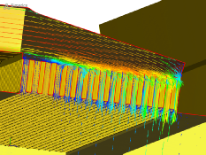 Airflow Curtain CFD Simulation