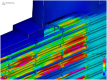 Example Thermal Simulation through a Heat Exchanger
