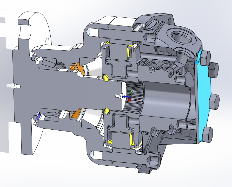 Cross-Sectional View through Piston Motor