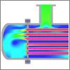 Flow through a Heat Exchanger within Simerics-MP