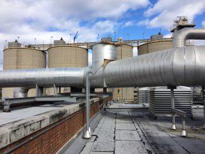 Actual Boiler Exhaust Ducting